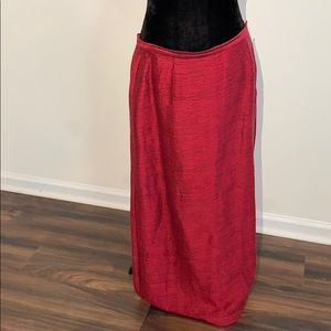 Eileen Fisher Christmas maxi linen skirt
